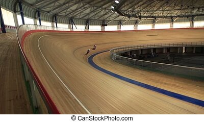 Bicycle Race velodrome competition - Cycling track Pursuit...