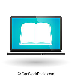 Laptop with a book