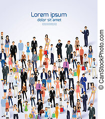 Group of people poster - Group of people adult professionals...