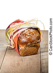 Loaf of fresh whole wheat bread