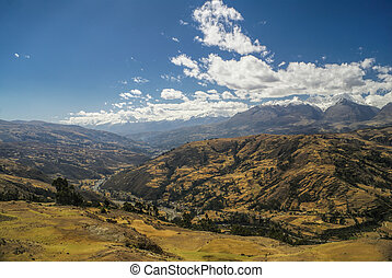 Cordillera Negra in Peru - Scenic view from the top of...
