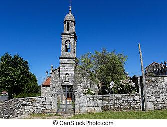San Pedro de Berdoias - Church of San Pedro de Berdoias near...