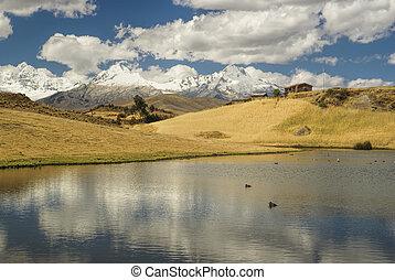 Cordillera Negra in Peru - Picturesque view of clouds...