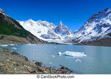 Los Glaciares - Mountains in Los Glaciares National Park...