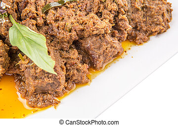 Malay Beef Rendang Dish - The Beef Rendang, a popular...