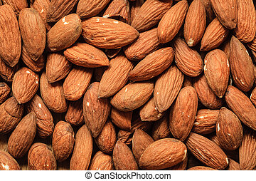 Almonds as food background - Healthy food, good for heart...