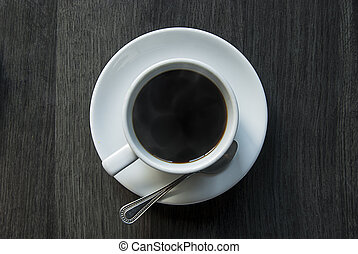 A cup of coffee from top