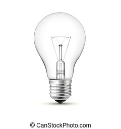 light bulb - Light bulb with filament showing isolated on...