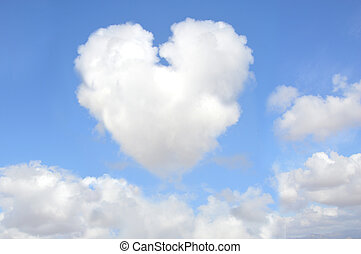 Heart Shaped Cloud - Blue Sky Clouds with Heart shape
