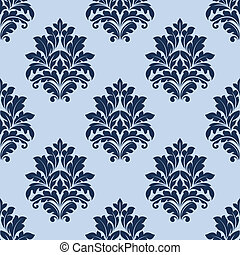 Floral seamless pattern with blue flowers