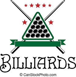Billiards club emblem