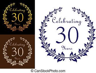Anniversary celebration emblem - Anniversary jubilee...