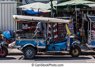 Tuktuk - Thai style tricycle called tuktuk or samlor in Thai...