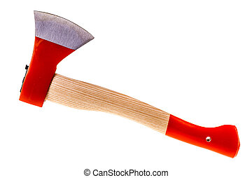 Hatchet - a clean hatchet isolated over a white background