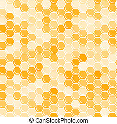 Orange honeycomb background. Abstract geometric vector...