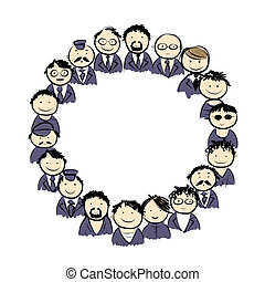 Male circle for your design