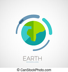 Earth company logo design, business abstract concept in...