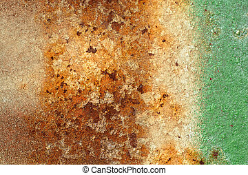 scratched and stained metal texture; abstract grunge background