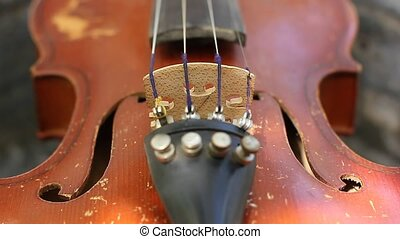 Detail of violin