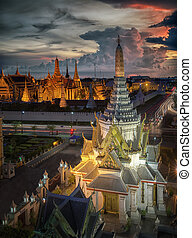 Wat Phra Kaew, Temple of the Emerald Buddha,Grand palace at...