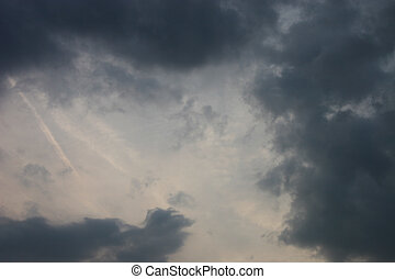stormy clouds - cloudscape of stormy looking clouds of dark...