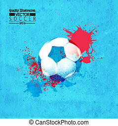 Creative Soccer Football Design Illustration - Creative...