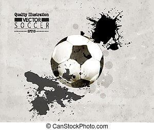 Creative Soccer Vector Design - Creative Soccer Football...