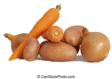 crudo, vegetales