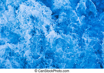 Water foam - Churning water in the Sea