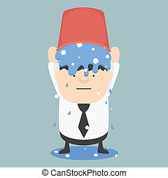 Ice bucket Challenge Business Fat EPS.10