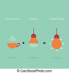 Inspiration and coffee good taste can be created the best...