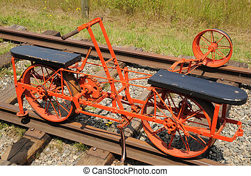 1880 Rail Cart - Rail cart used to inspect rail lines in the...