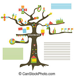 Infographic data on the tree - presentation template