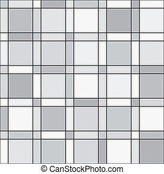 Vector seamless pattern - squares geometric monochrome simple ba