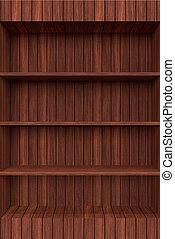 3d Old Wooden book Shelf