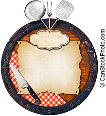 Rustic Menu Background - Wooden background (Bottom of a...