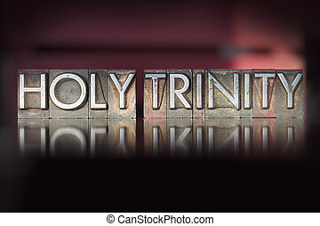 Holy Trinity Letterpress - The word Holy Trinity written in...