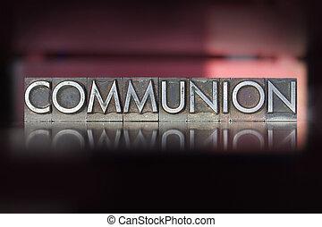 comunión, texto impreso