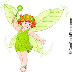 Summer baby fairy - Vector illustration of a summer baby...