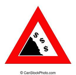 Falling Dollar currency