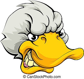 Duck sports mascot - An illustration of a mean looking duck...