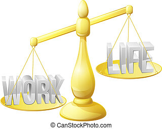 Too much work concept - Work life balance concept, work and...