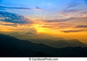 Sunrise over The Himalayas - Beautiful Sunrise over The...