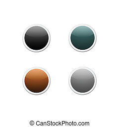 Set of colored round buttons