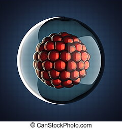 Um, micro, célula, científico,...