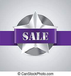 Star shaped metallic sale badge