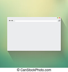 Blank window of internet browser for website presentation