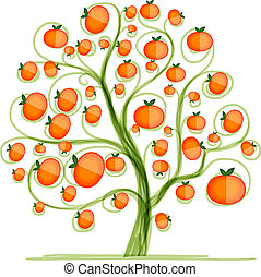 Mandarin tree for your design