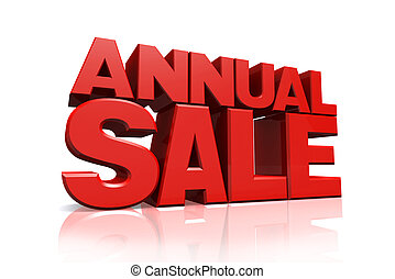 3D red text annual sale