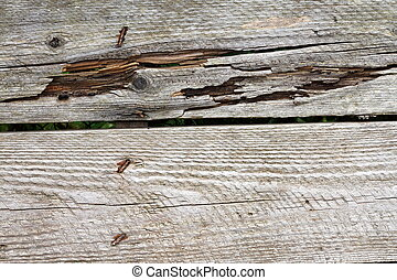 weathered wood planks detail